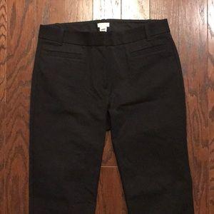 J. Crew black pants, stretch 4R